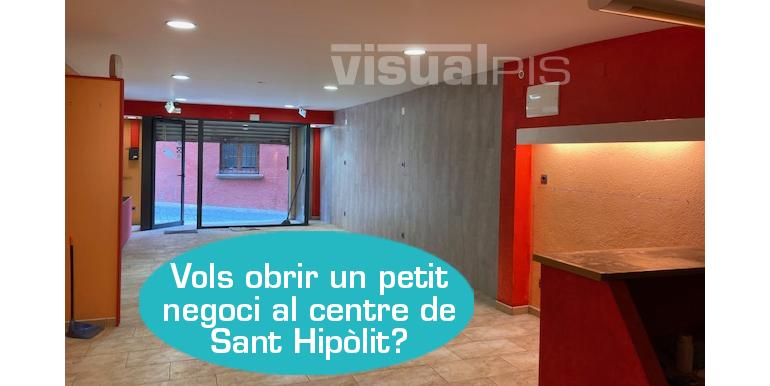 LOCAL EN VENDA AL CARRER JACINT VERDAGUER DE ST. HIPÒLIT DE VOLTREGÀ